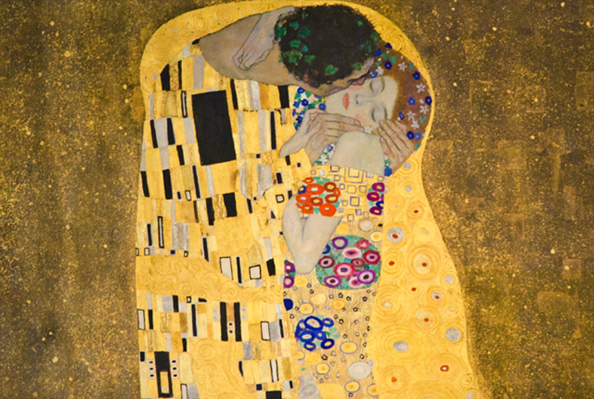Klimt's--The-Kiss