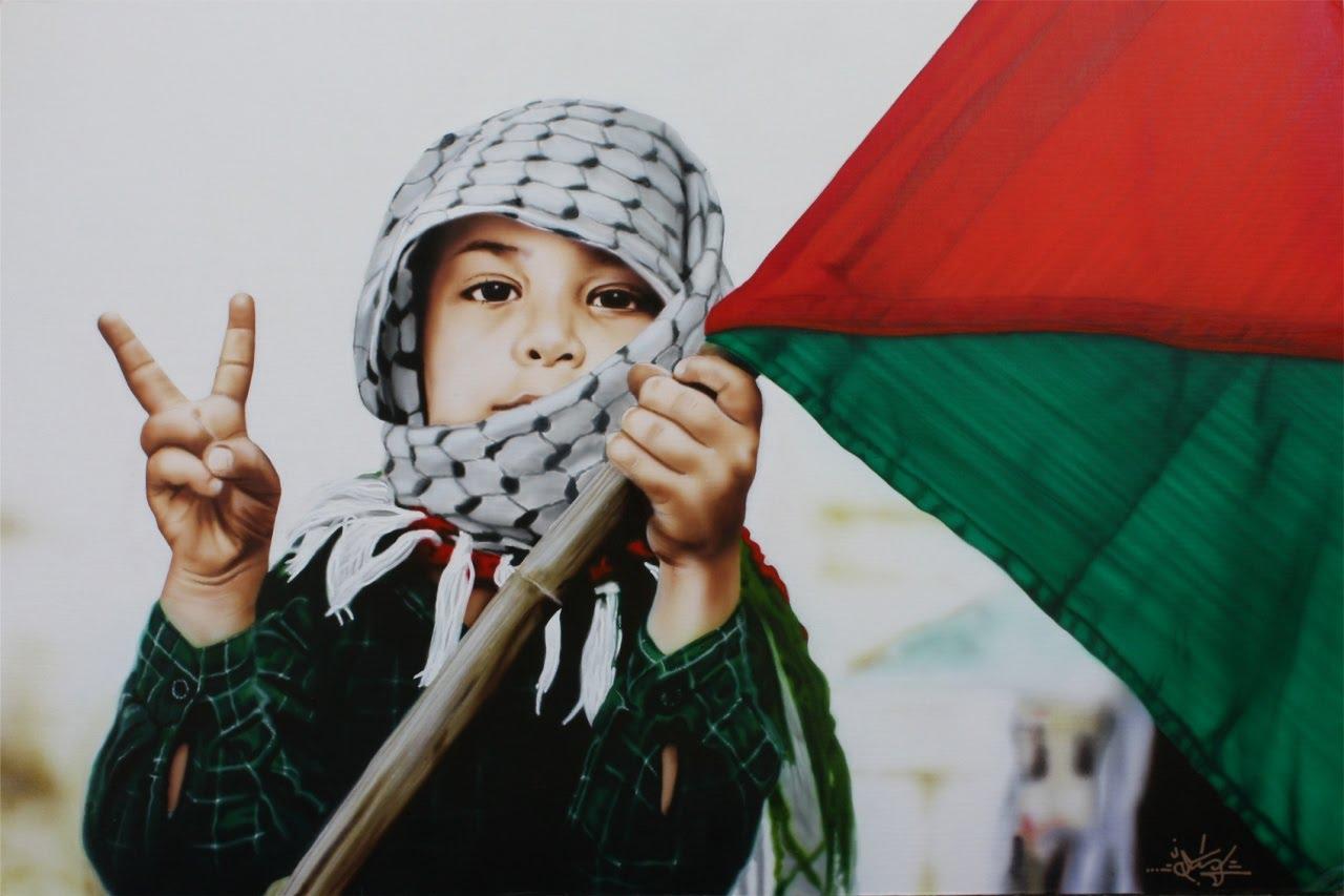 Palestine-Children-Freedom-Victory-Sign-Flag-Resistence-Intifada