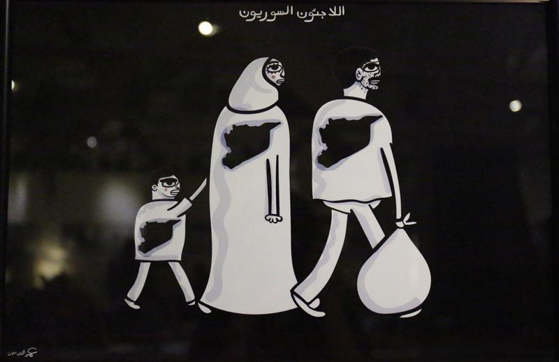 Syrian-refugees-Art-by-Omar-Al-Abdallat