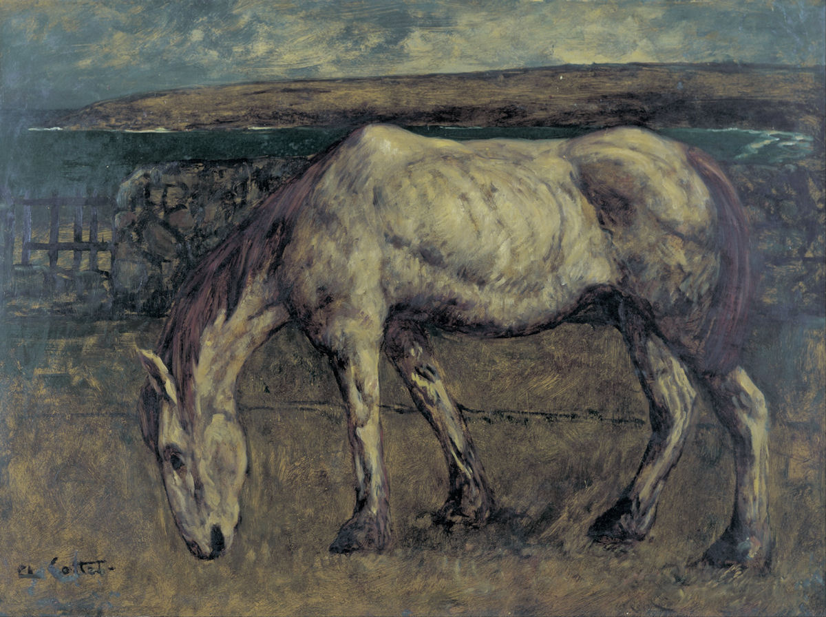 Charles-Cottet-Old-Horse-in-the-Wasteland