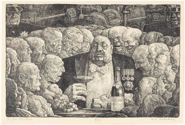 carl-hoeckner-the-yes-machine-c-1935-lithograph-courtesy-of-mary-and-leigh-block-museum-northwestern-university
